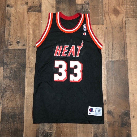 purchase cheap 86d88 30d5d Vintage Alonzo Mourning Jersey Champion Miami Heat